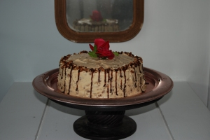 Gooey inside-out German Chocolate Cake